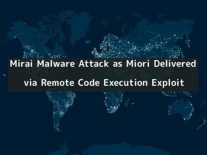 Miori  - MKY9a1545437695 - Mirai Malware Attack as Miori Delivered via RCE Exploit