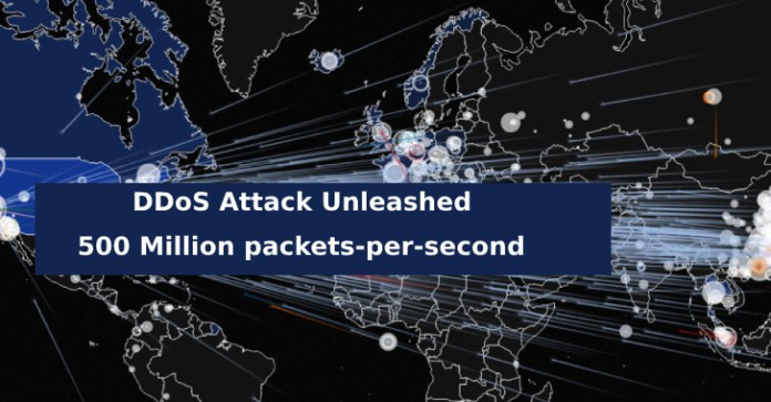 500 Million packets  - 500 Million packets - DDoS Attack Unleashed – 500 Million packets-per-second