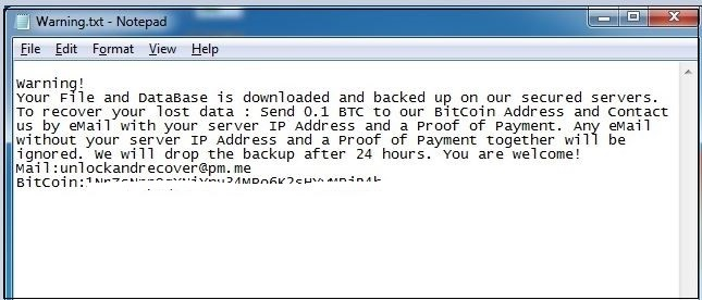 - 6 1 - New Mongolock Ransomware Attacking Database to Deleteing file