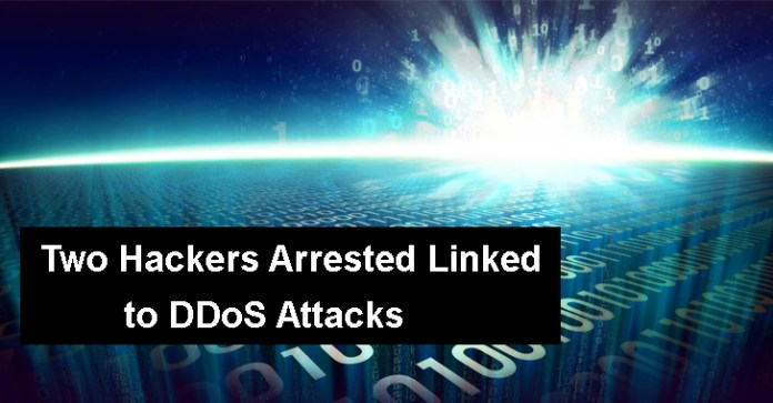DDoS attacks  - DDoS1 - Two Hackers Arrested Linked to DDoS Attacks Face Prison