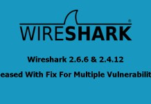 Wireshark 2.6.6 & 2.4.12
