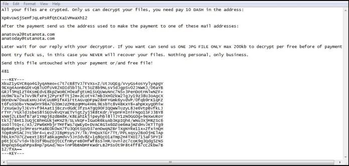 - en - Anatova Ransomware Encrypt the Users Data & Demands $700 USD