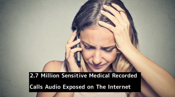 Recorded Calls  - RE3ra1550677095 - 2.7 Million Sensitive Medical Recorded Calls Audio Exposed on The Internet