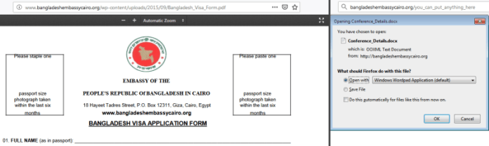 - doc - Hackers Compromised Bangladesh Embassy Website that Drops Words