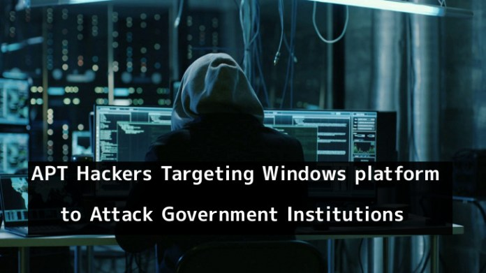 - xuJXy1550989751 - APT Hackers Target Windows platform to Attack Government Institutions