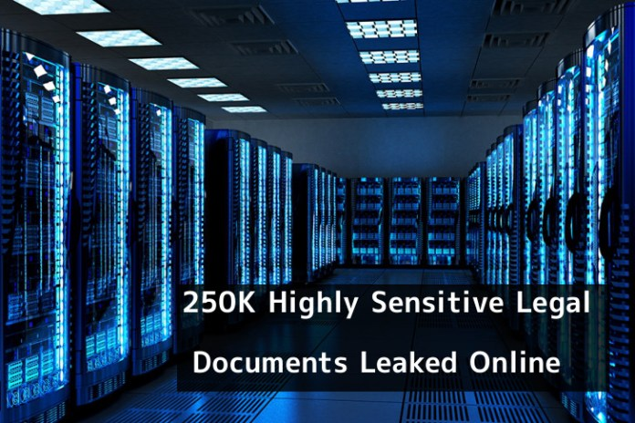 - 8C9831552724298 - 250,000 Legal Document Leaked Online via Unsecured AWS Cluster