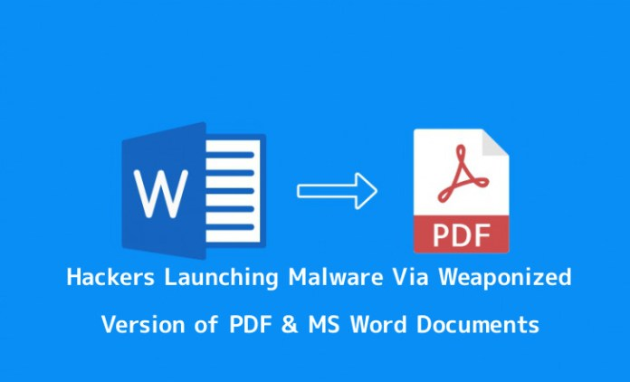 - Jb65Y1553943622 - Hackers Distributing Malware Via Weaponized PDF & MS Word Version