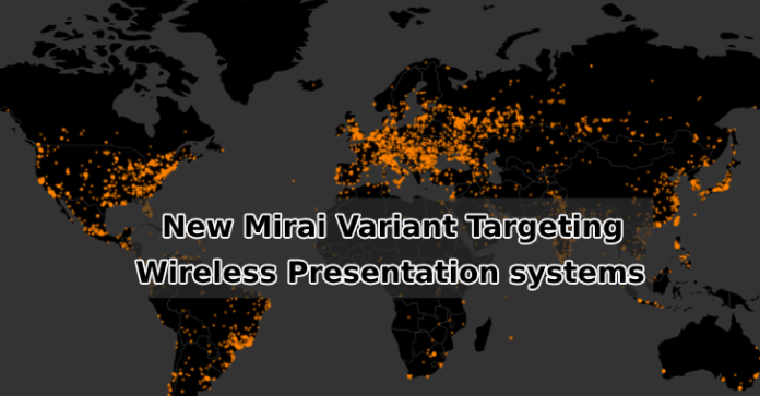 Mirai Malware  - Mirai Malware - New Mirai Malware Targeting Enterprise Wireless Presentation Systems