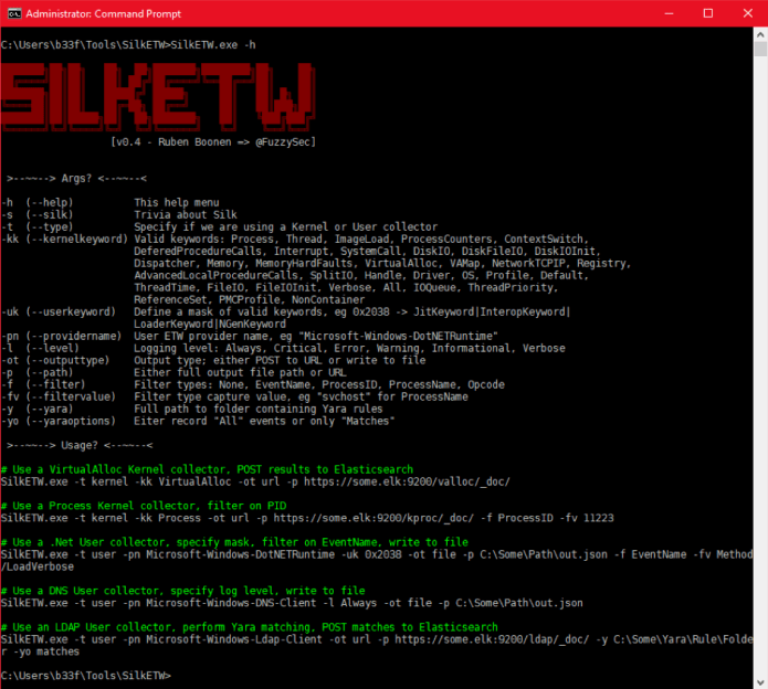 SilkETW  - Picture1 - Intelligence Tool to Capture & Analyze Windows Events Log