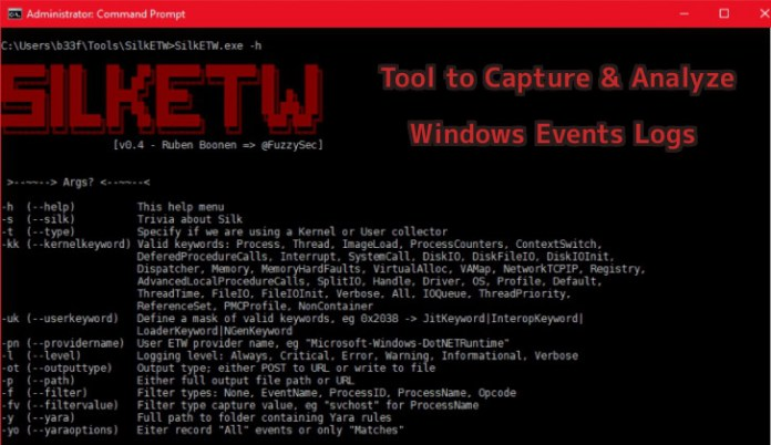 - T2L5h1553505762 - Intelligence Tool to Capture & Analyze Windows Events Log