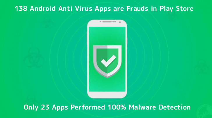 138 Android Anti Virus Apps are Frauds in Google Play Store