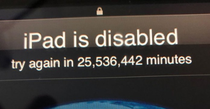 3-year-old  - 3 year old - 3-year-old boy Locked his Dad's iPad until 2067 Entering wrong Password