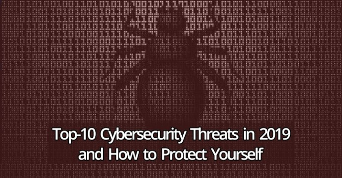 Cybersecurity Threats  - Cybersecurity Threats - Top-10 Cybersecurity Threats in 2019 and How to Protect Yourself