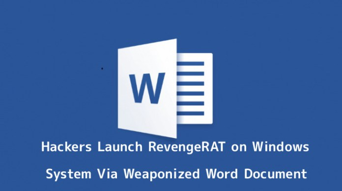 - xUXIC1555978188 - Hackers Drop RevengeRAT Malware On Windows Via Word Document
