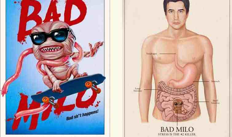 Horror Movie Review: Bad Milo! (2013)
