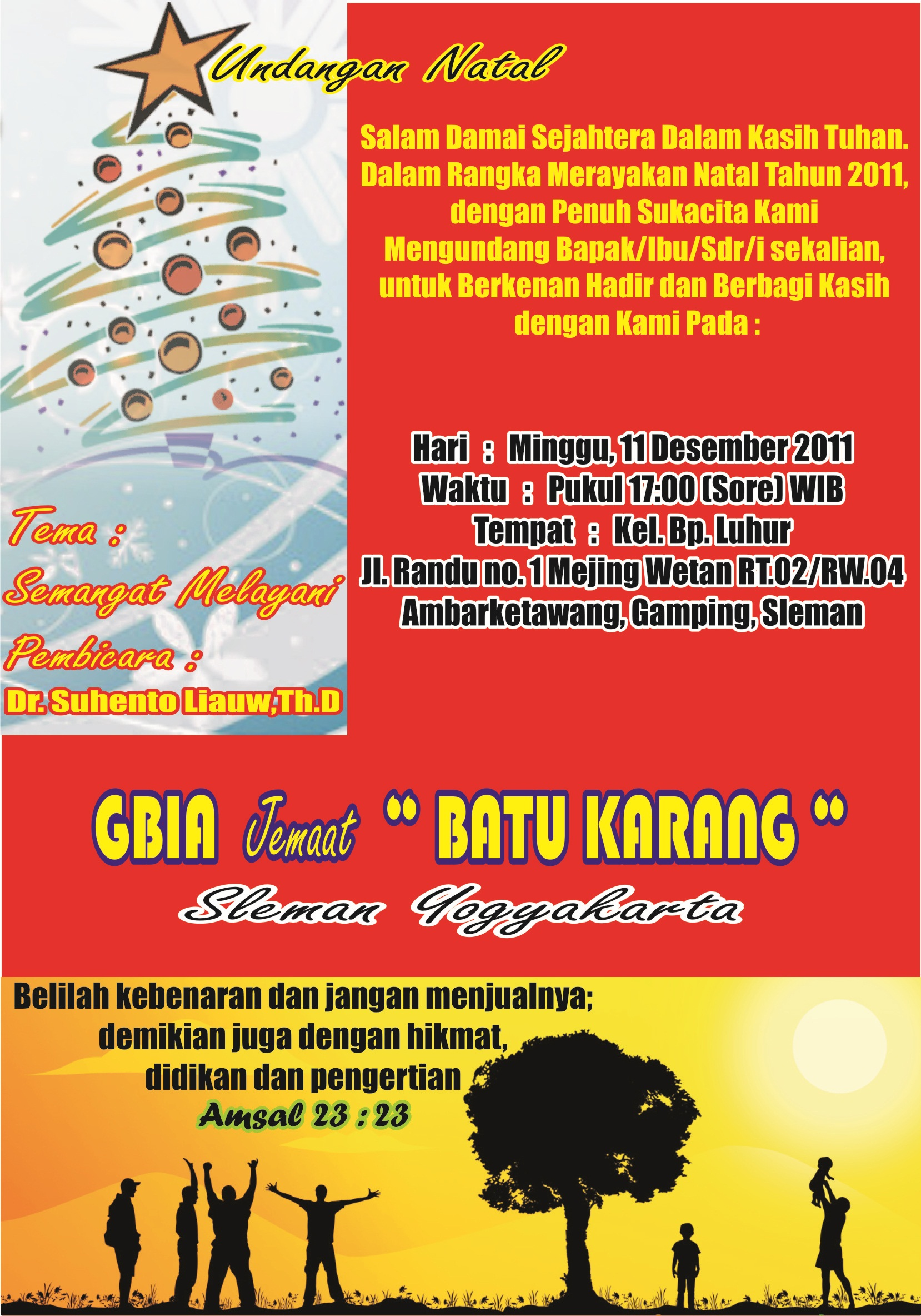 Undangan Natal | GBIA (Gereja Baptis Independen Alkitabiah