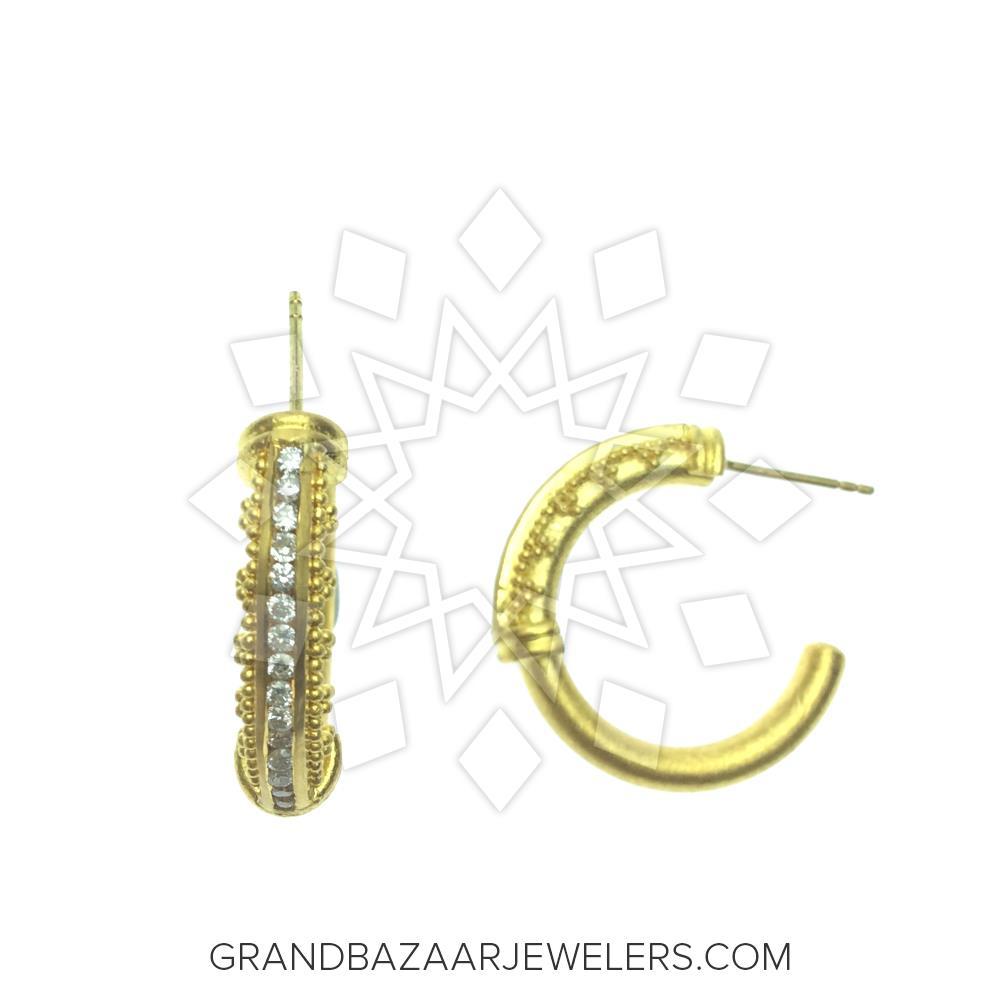 24 Karat Gold Earrings GBJ296ER27311