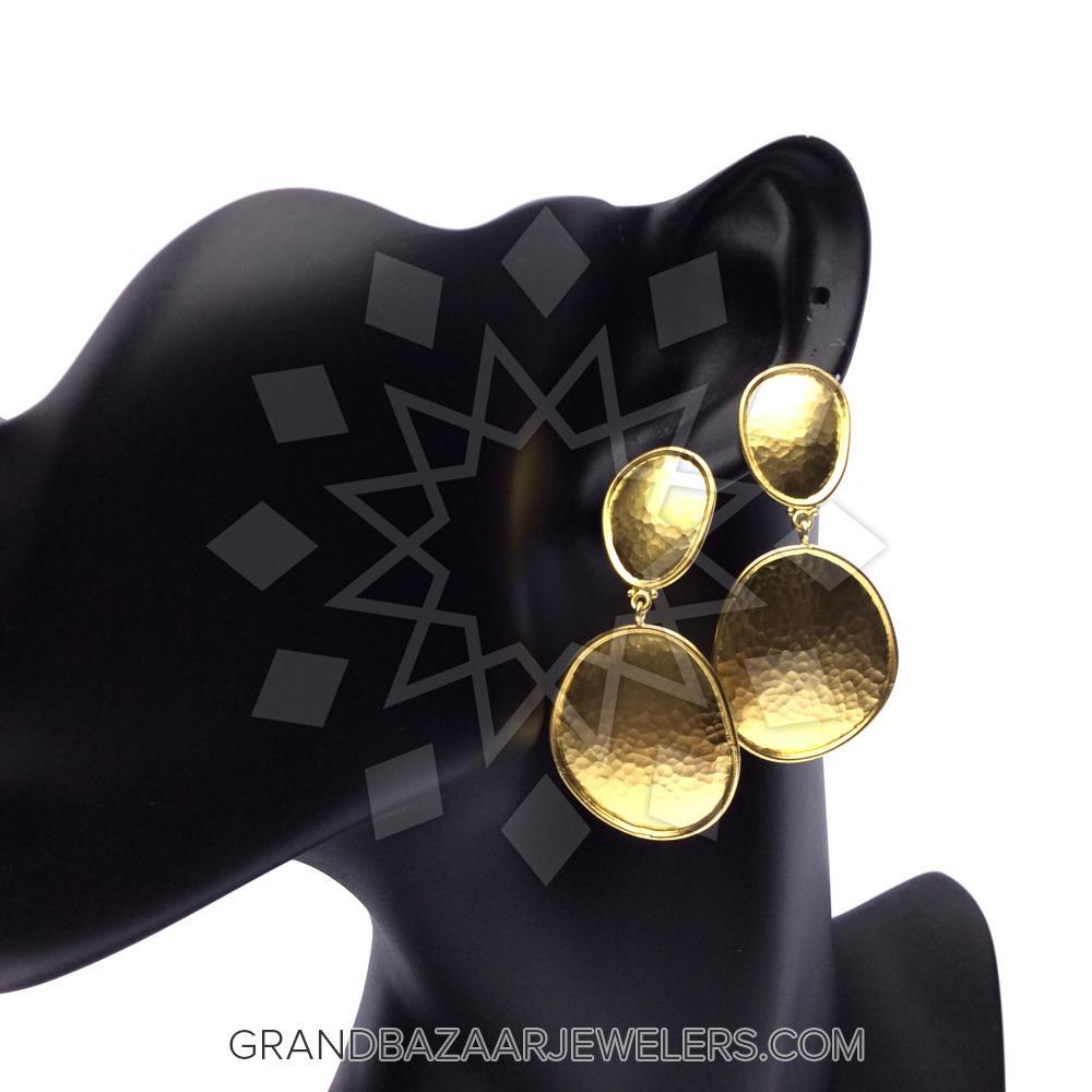 24 Karat Gold Earrings GBJ296ER27318