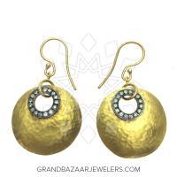 24 Karat Gold Earrings GBJ296ER28477