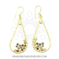 24 Karat Gold Earrings GBJ296ER32190