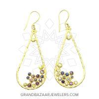 24 Karat Gold Earrings GBJ296ER32190