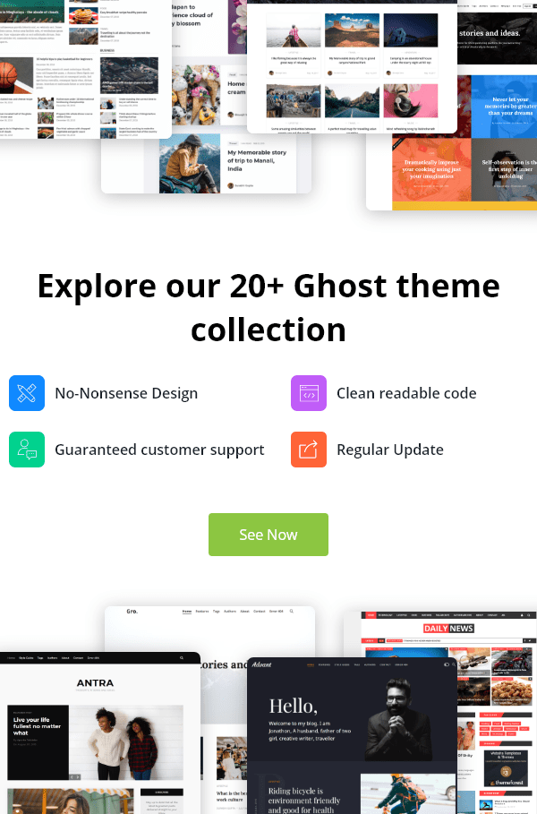 Premium Ghost theme collection