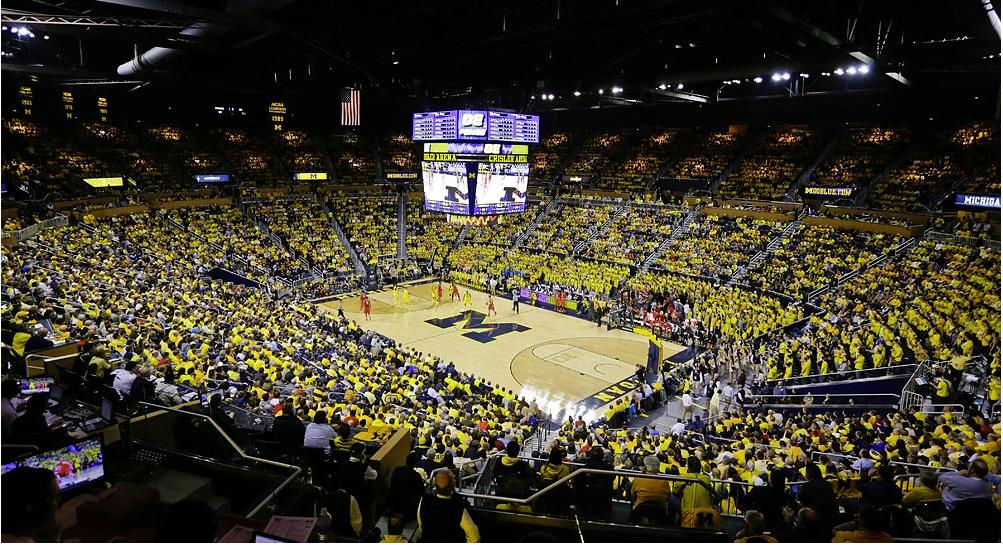 College Basketball Arena Rankings Michigan Wolverines 7th