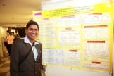 Kiran with his poster.