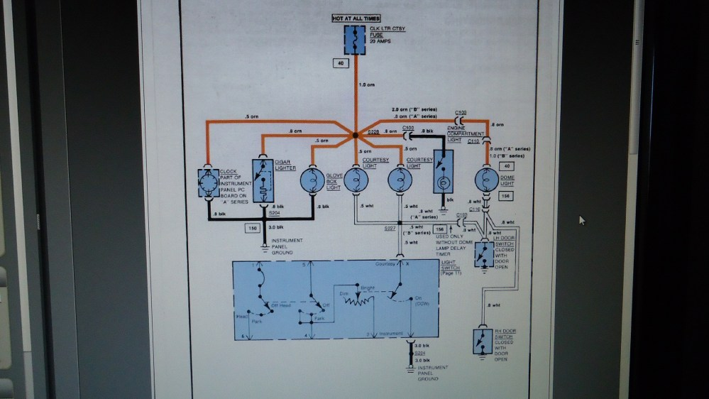 medium resolution of blowing the courtesy fuse gbodyforum 78 88 general motors a g 1972 el camino wiring schematic 1987 el camino wiring diagram ctsy clk