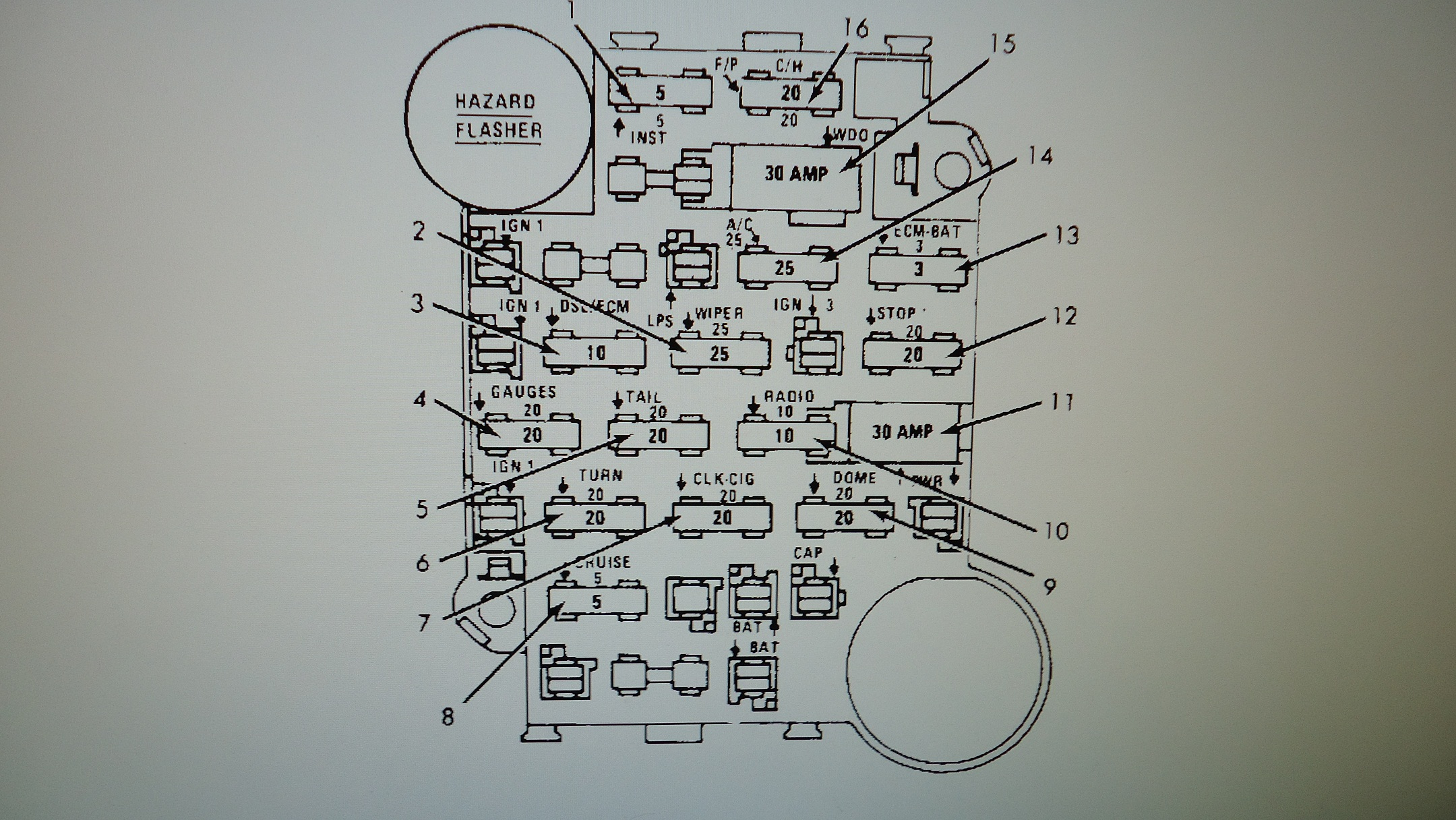 fiero stereo wiring diagram cycle of abuse 84 fuse box 1985