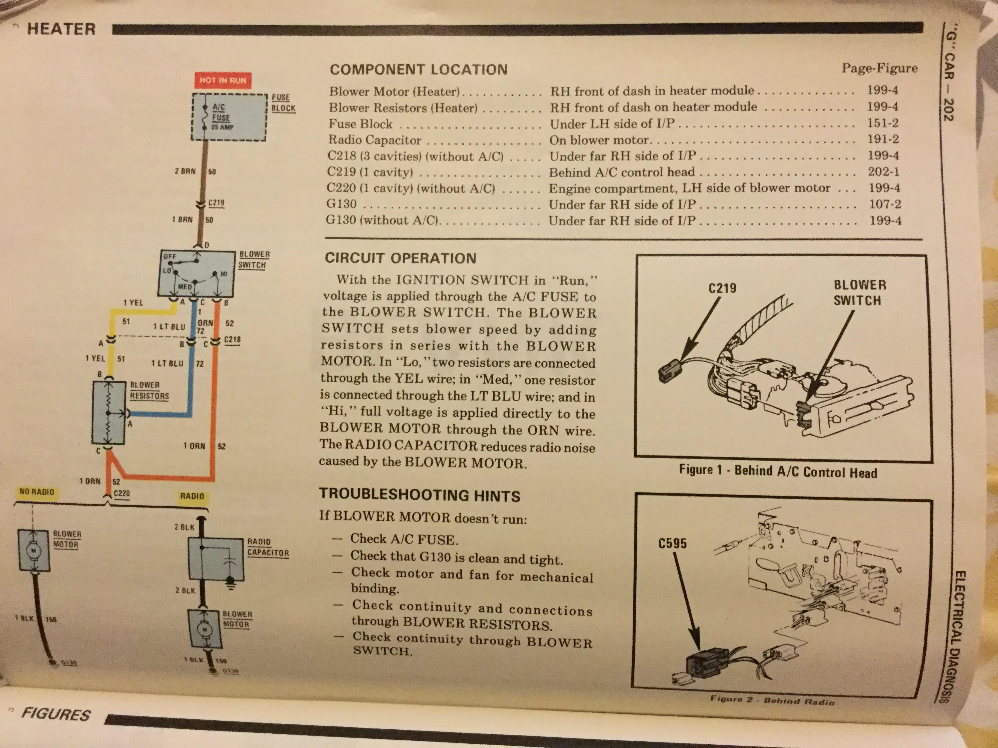 Chevrolet Starter Wiring Diagram 85 Blower Motor Wiring Gbodyforum 78 88 General