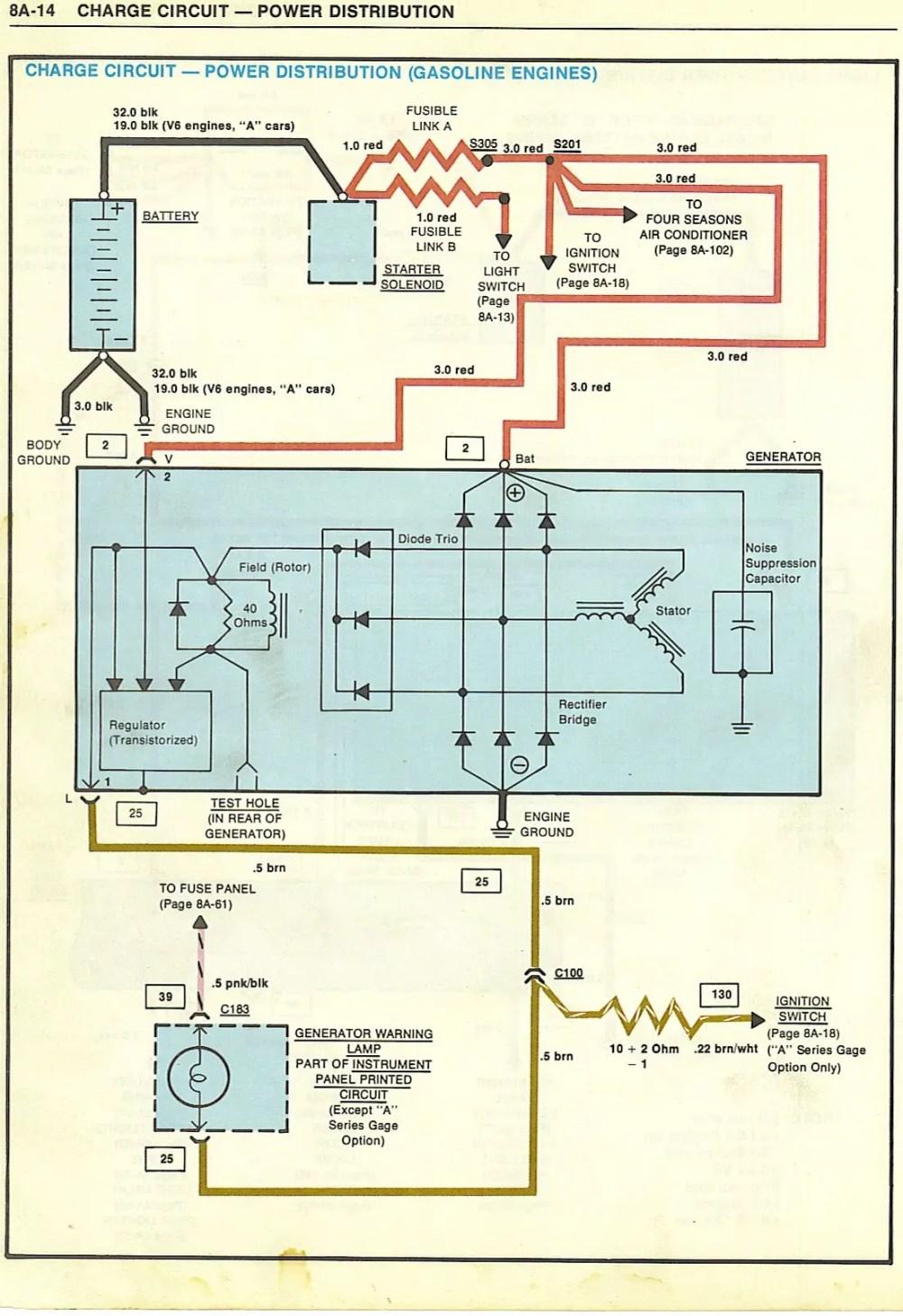 medium resolution of oldsmobile alternator wiring owner manual u0026 wiring diagramalternator not charging gbodyforum u002778
