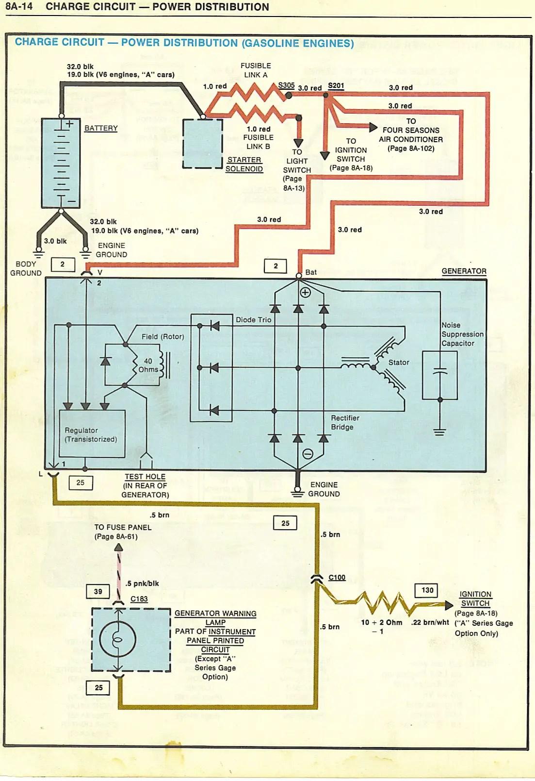 hight resolution of oldsmobile alternator wiring owner manual u0026 wiring diagramalternator not charging gbodyforum u002778