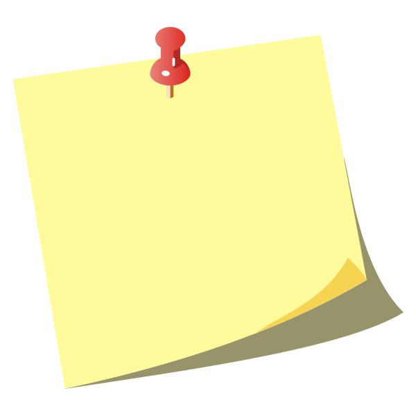 Note Paper Clip Art