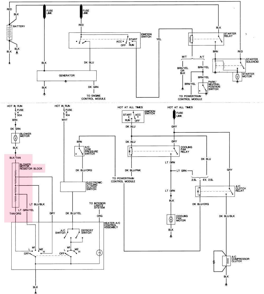 medium resolution of 1992 dodge dakota heater fan wiring wiring diagram used 1992 dodge dakota blower motor wiring diagram