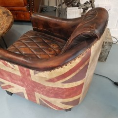 Modern Red Chair Racing Seat Union Jack Leather Aviator Chair' From Gb Salvage. We Stock A Diverse Range Of Industrial And Up ...