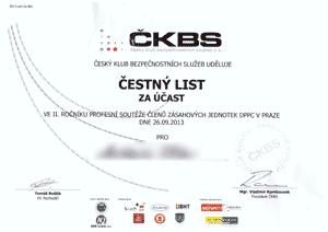 Český klub bezpečnostních služeb - soutěž zásahových jednotek