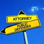 public defender or private attorney