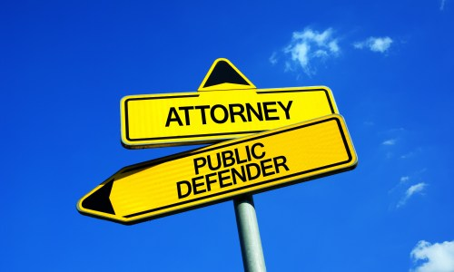 public defender or private attorney