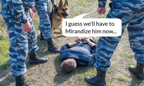 in custody miranda rights interrogation felony DUI