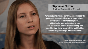 Here's a tip on what to do if you identify a trigger during an interview with a survivor of gender-based violence... Learn more - https://library.witness.org/product-tag/gender-based-violence/