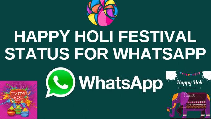 Happy Holi Festival Status For WhatsApp