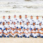 Whitecaps Baseball at Galveston College on the beach