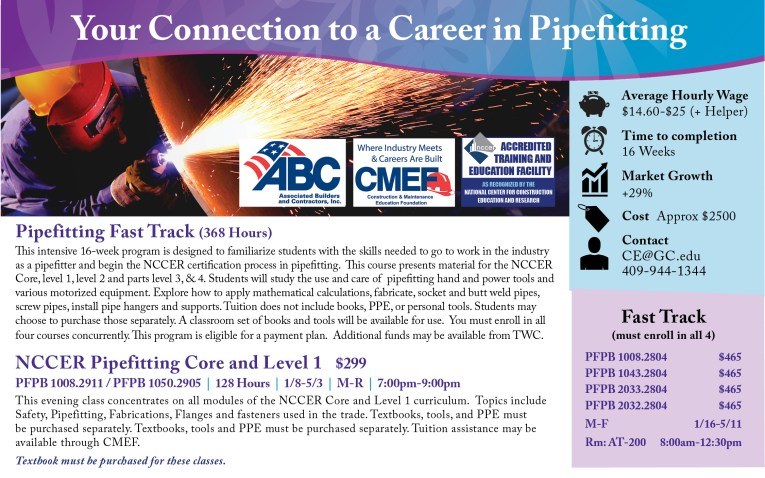 Pipefitter - Galveston College