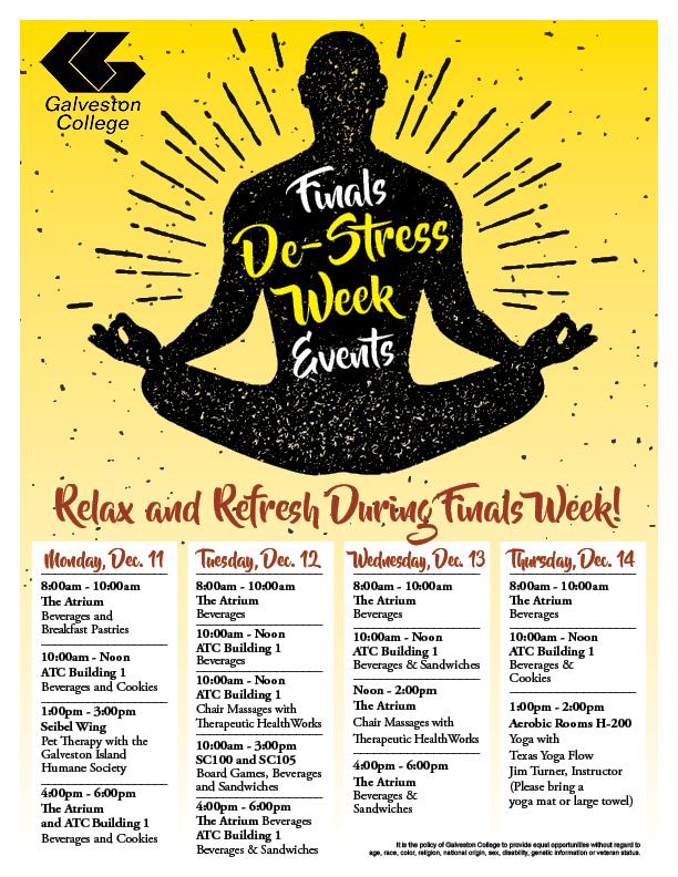 Finals Week DeStress Events