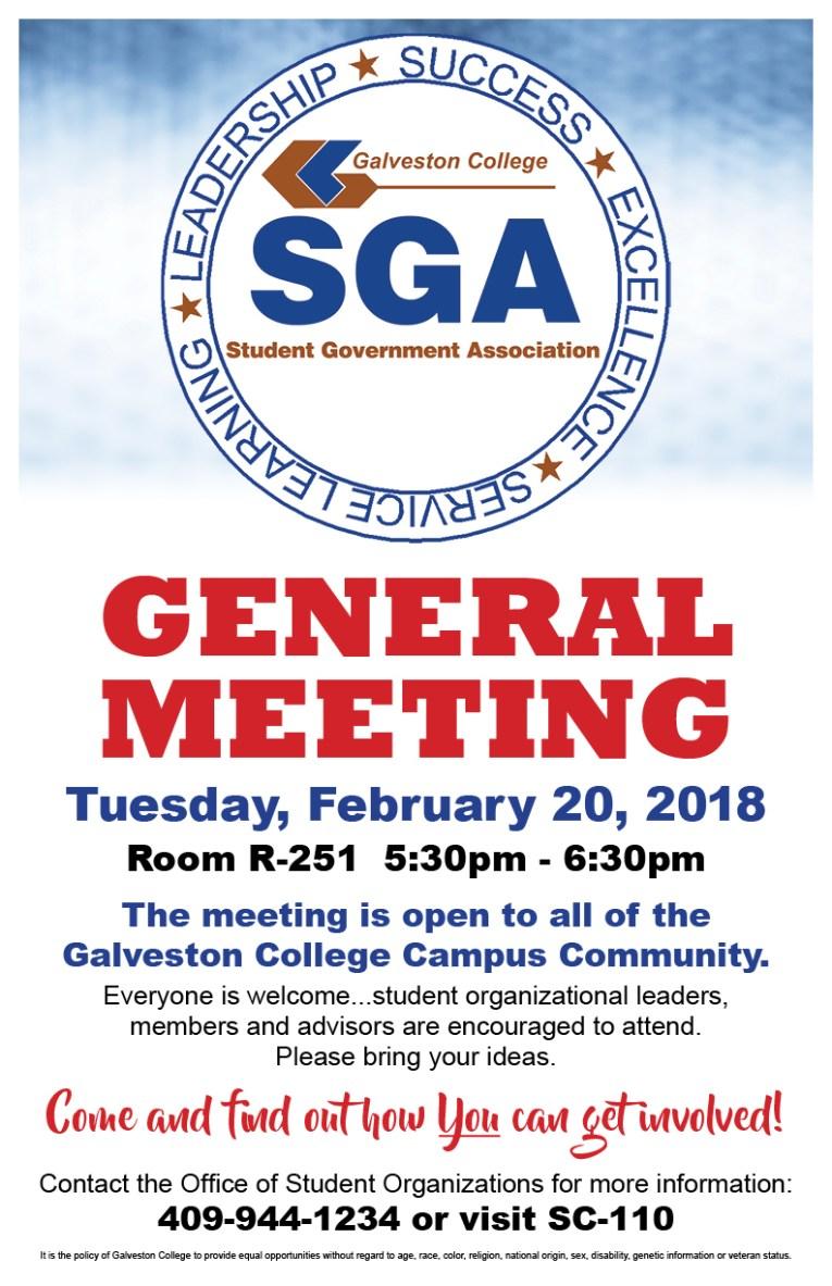 SGA General Meeting
