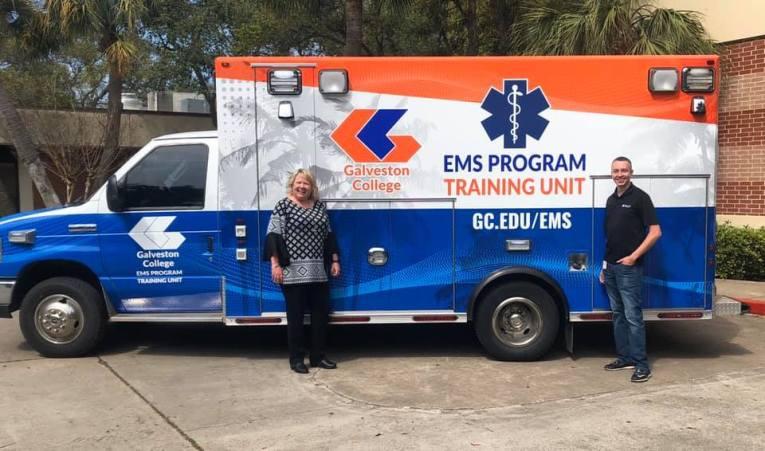New Training Ambulance at Galveston College
