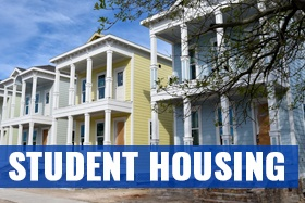 Student housing at Galveston College