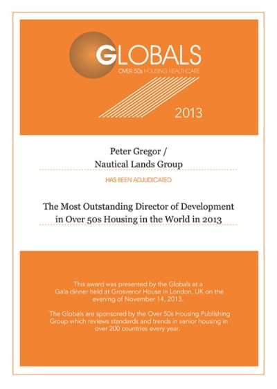 Global Awards Peter Gregor 2013