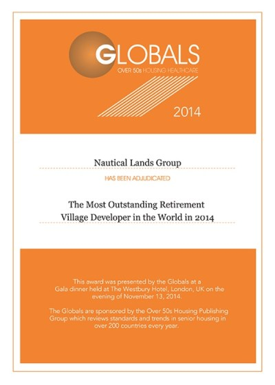 Global Awards Nautical Lands Group 2014